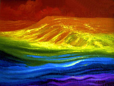 Rainbow Body Poster featuring the painting Rainbow Colours by Genio GgXpress