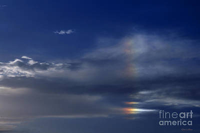 Rainbow In The Clouds Poster by Amanda Collins