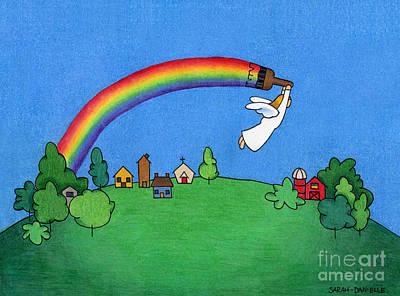 Rainbow Painter Poster by Sarah Batalka