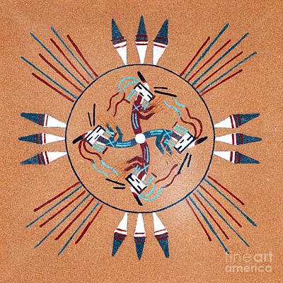 Rainbow People Kachina Poster by Paul W Faust -  Impressions of Light