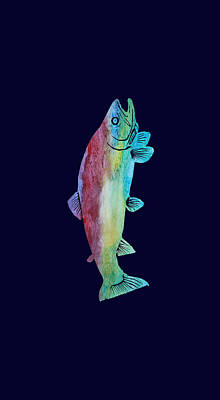 Rainbow Trout Poster by Jenny Armitage