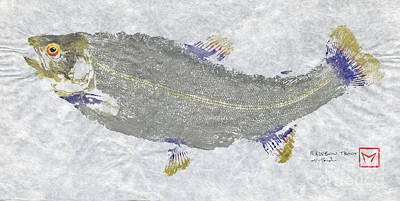Rainbow Trout On Unryu Poster by Matt Monahan