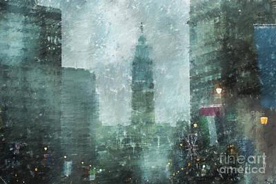Rainy Day In Philadelphia  Poster by Diane Diederich