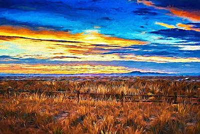 Ranchito Sunset Lx  Poster by Charles Muhle