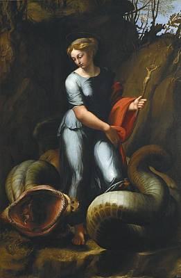 Raphael 1483-1520. Saint Margaret Poster by Everett