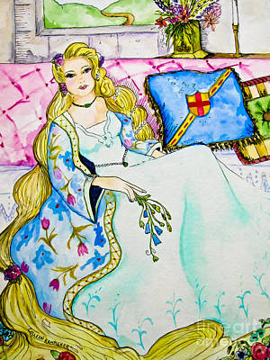 Rapunzel - Fairy Tale Art Poster by Colleen Kammerer
