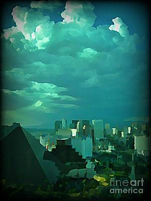 Rare Clouds Over Vegas Poster by John Malone