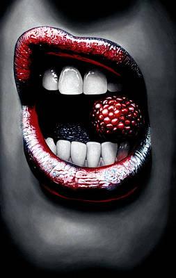 Raspberry Poster by Kalie Hoodhood