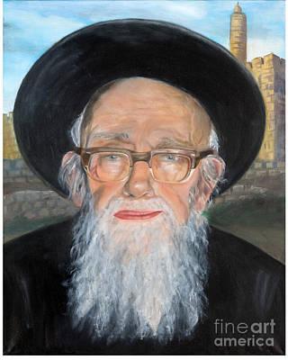 Rav Shlomo Zalman Auerbach Poster by Michal Schwarz