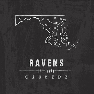 Ravens Country Poster by Damon Gray