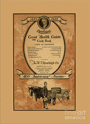 Rawleighs Good Health Guide And Cook Book 1928 Poster by Anne Kitzman