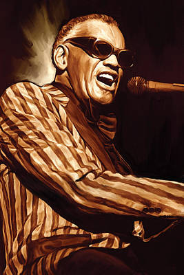 Ray Charles Artwork 2 Poster by Sheraz A
