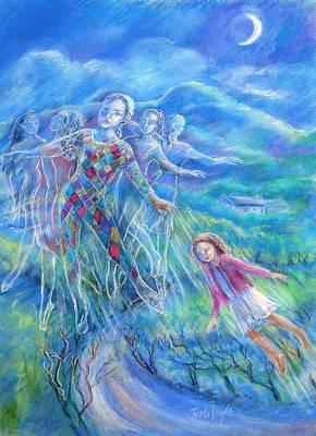 Moondance Poster by Trudi Doyle