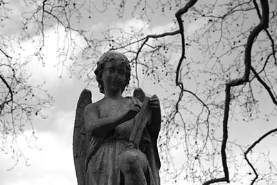 Reading Angel Poster by Jennifer Ancker