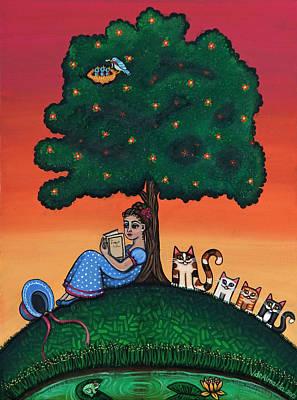 Reading Jane Poster by Victoria De Almeida