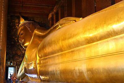 Reclining Buddha - Wat Pho - Bangkok Thailand - 01135 Poster by DC Photographer