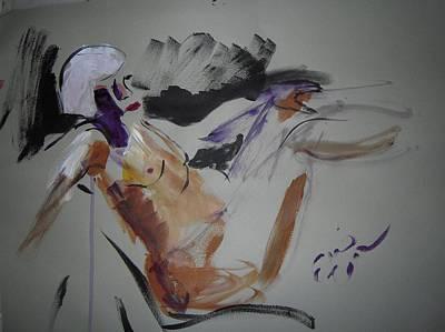 Reclining Nude Poster by Elaine Schloss