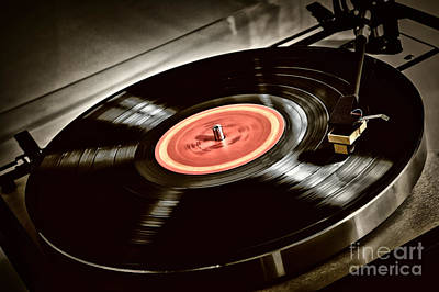 Record On Turntable Poster by Elena Elisseeva