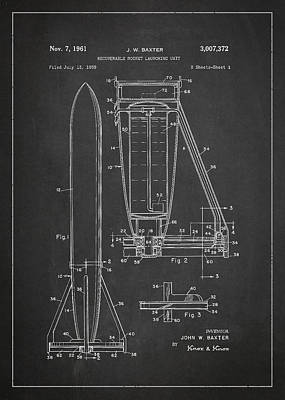 Recoverable Rocket Launching Unit Poster by Aged Pixel