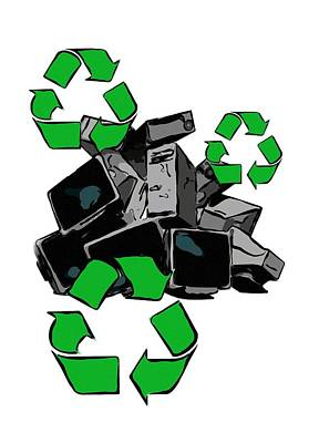 Recycling Concept Poster by Victor Habbick Visions