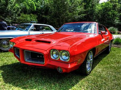 Red '72 Pontiac Gto 001 Poster by Lance Vaughn