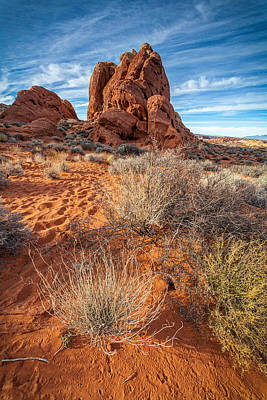 Red And Blue Valley Of Fire Poster by Peter Tellone