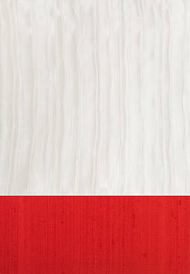 Red And Ivory Silk Poster by Margaret Ivory