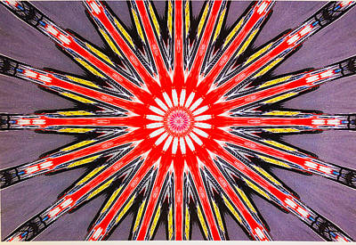 Red Arrow Abstract Poster by Barbara Snyder