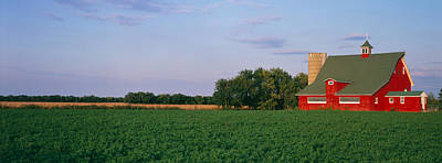 Red Barn Kankakee Il Usa Poster by Panoramic Images