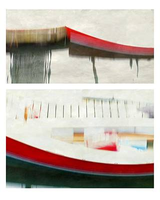 Red Boat At The Dock Poster by Patricia Strand