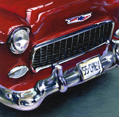 Red Chevy Poster by Natasha Denger