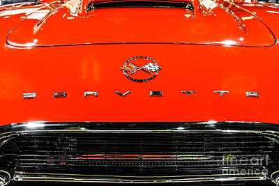 Red Corvette Picture - First Generation C1 Vette Poster by Paul Velgos