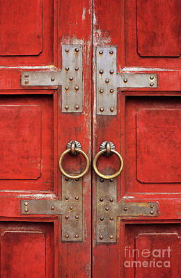 Red Doors 01 Poster by Rick Piper Photography