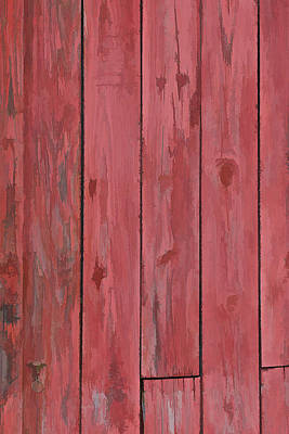 Red Faded Barn Boards Poster by David Letts