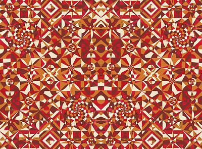 Red Geometrics Poster by Sumit Mehndiratta