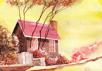 Red House R Poster by Anil Nene