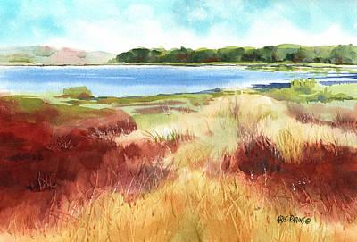 Red Marsh Poster by Kris Parins