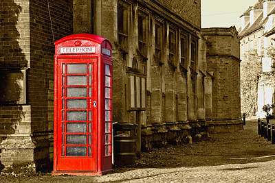 Red Phone Box Poster by Scott Carruthers
