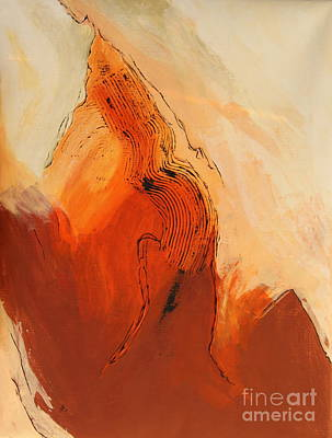 Red Planet X - Abstract Painting Poster by Christiane Schulze Art And Photography