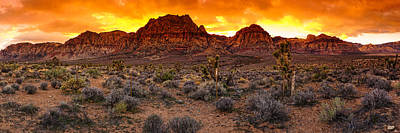 Red Rock Canyon Las Vegas Nevada Fenced Wonder Poster by Silvio Ligutti