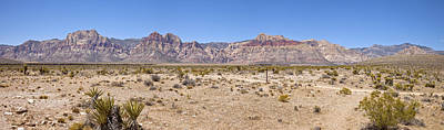 Red Rock Canyon Panorama Nevada. Poster by Gino Rigucci