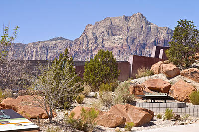 Red Rock Canyon Visitor Center Nevada. Poster by Gino Rigucci