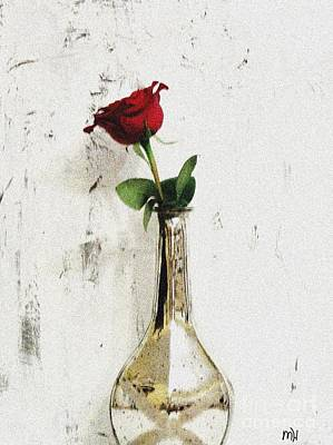 Red Rose Love Poster by Marsha Heiken