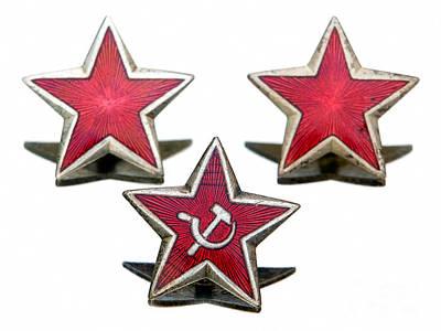 Red Stars Poster by Sinisa Botas