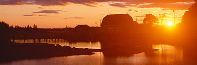 Red Sunset At Lobster Village Poster by Panoramic Images