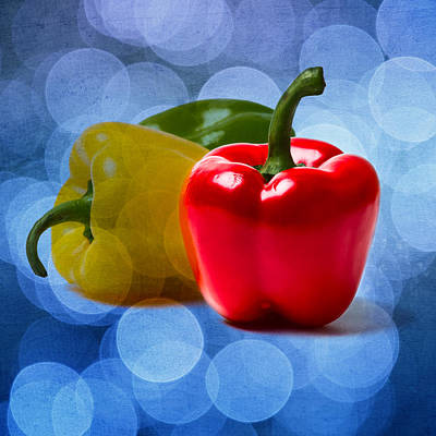 Red Sweet Pepper - Square - Textured Poster by Alexander Senin