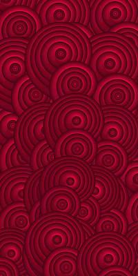 Red Swirls Poster by Frank Tschakert