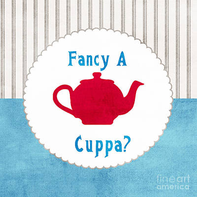 Red Teapot Poster by Linda Woods