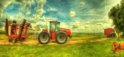 Red Tractor Farm Poster by  Caleb McGinn