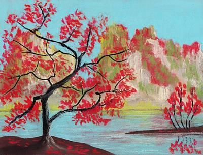 Red Trees Poster by Anastasiya Malakhova